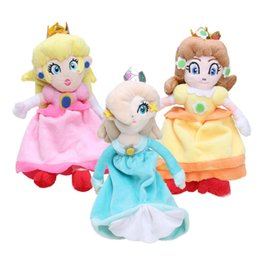 "Wholesale Princess Plush - Hot Sale 3 Styel 8"" 20 CM Princess Peach Daisy Rosalina Super Mario Plush Toy With Tag Soft Dolls For Girl"