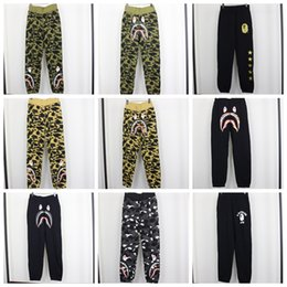 Wholesale Male Camouflage Pants - New Men's Hip Hop Shark Mouth Camouflage Printing Casual Pants Male Hip Hop Foot Sport Sweatpants Cargo Shark Pants