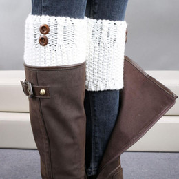 Wholesale Socks Knitting Needles - Wholesale-New Design Knitted Brief Paragraph Coarse Needle Leg Warmers Socks Boot Cover Jun21