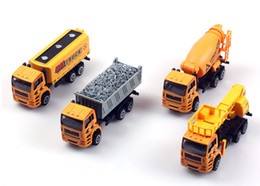 Wholesale Toy Model Pulling Trucks - Kids Toys 1:50 Pull Back Alloy Car Engineering Truck Model Excavators Cement Concrete Mixer Dumpers Diecasts Toy Vehicles for Boys