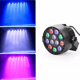 Wholesale Laser Light Staging - Flat led par stage light rgbw 12x3W disco party lights laser dmx luz Dj effect controller Dj Equipment projector luces discoteca
