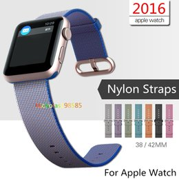 Wholesale Buckles Connectors - Colorful New Design Nylon Watch Band With Connector Adapter Clip For Apple Watch Nylon Strap For iPhone iWatch Buckle Bracelet