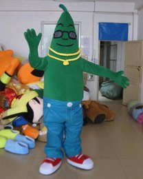 Wholesale Cucumber Mascot Make - SM0429 a vegetable mascot costume an adult green cucumber mascot costume with blue pants for adult to wear