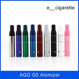 Wholesale Electronic Cigarette Atomizer E Liquid - AGO G5 Atomizer Vaporizer Clearomizer for Wind proof Electronic Cigarette Dry Herb Vaporizer G5 Pen E cig Suit for Cut tobacco Liquid Herb