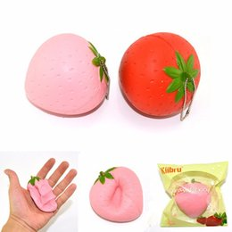 Wholesale Movie Candy - Wholesale- Kiibru Strawberry Squeeze Slow Rising 7cm With Original Packaging Candy Scented Fun Gift Decor Toy For Children Adult