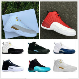 Wholesale Rose Eva - With Box air retro 12 XII basketball shoes ovo white Flu Game GS Barons wolf grey Gym red taxi playoffs gamma blue sneakers