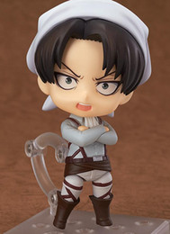 Wholesale Finish Cleaning - Anime Attack On Titan Nendoroid 417 Levi Cleaning Version PVC Action Figure Resin Collection Model Toy Doll Gift Cosplay