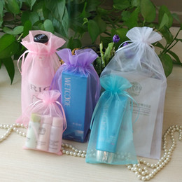 Wholesale Organza Bags 9cm - 7*9cm 9*12cm 11*16cm 13*18cm 17*23 Gift bags Organza bags candy bags jewelry package bags christmas gift pouches bags mix color wholesale