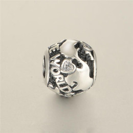 Wholesale pandora star necklace - All around the world travel charms beads S925 sterling silver jewellery fits pandora style bracelet and necklace free shipping LW586