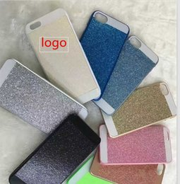 Wholesale Iphone Case Shimmering - For iphone 7 case luxury Bling sparkle glitter shimmering powder cases rhinestone PC case for iphone 5 5s se 7 6s 6 plus