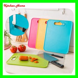 Wholesale Anti Bacteria - 2 in 1 Kitchen portable cutting board with knife sharpener anti-bacteria non-stick plastic chopping board free shipping