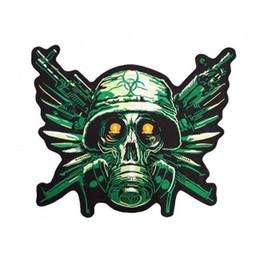 Cruz do mal on-line-Resident Evil MC Remendo Artesanal Bordado de Ferro Em Motocicleta Applique Punisher Crânio Cruz Patches de Motociclista Frete Grátis
