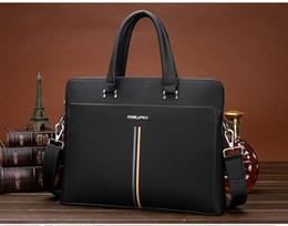 Wholesale Document Handbag - new 2016 leather men's bags business portable document computer one shoulder bag, men's leather handbags
