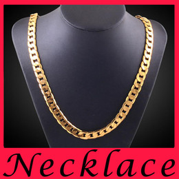 Wholesale Wedding Store China - Fashion Jewelry stores 18K Gold statement mens necklaces gold chains choker necklace charms chunky jewellery online 8mm 20 inch chain
