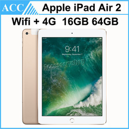 Wholesale Free Cellular - Refurbished iPade Air 2 iPad6 Wifi + 4G Cellular 9.7 inch 16GB 64GB A8X Chip Gold Silver Space Gray Free DHL