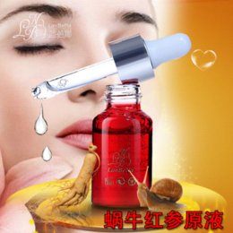 Wholesale Ginseng Skin - Red Ginseng Snail Essence Renovating Regenerating Skin Care Anti Acne Removal Treatment Snail Cream Face Care Whitening Cream