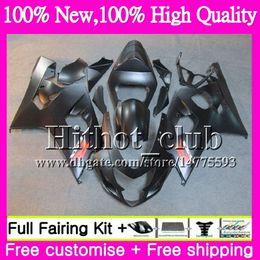 Wholesale Matte Gsxr K4 - Body For SUZUKI GSXR 750 GSX R600 K4 GSXR 600 04 05 24HT21 Matte black GSX-R750 GSX-R600 GSXR750 04 05 GSXR600 2004 2005 Motorcycle Fairing