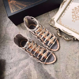 Wholesale Gold Items 24k - Rome sandals shoppe items made of snakeskin with cowskin handmade cowskin Knitting strip 24K gold-plating clinch bolt highestquality luxury