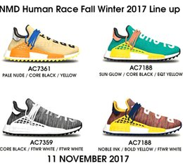 "Wholesale Toes Shoes China - Shop Brand new Pharrell NMD ""Human Race"" Shoes,Source cheap Real Boost Trail NMDs With Box for Mens Womens wholesale direct from China"