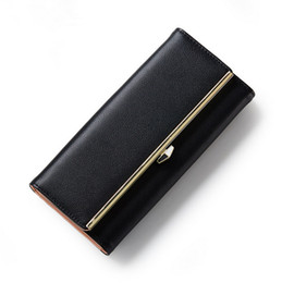 Wholesale Office Wallets - Imitation Leather Wallets Lady Purse Office High Quality Money Case Bags Card Positions Billfoder with Metal