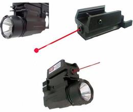 Wholesale Led Flashlight Laser For Pistol - 2in1 Red Dot Laser Sight+ LED Flashlight Combo Hunting Glock Accessories for Pistol Guns Glock 17,19,20,21,22,23,30,31,32