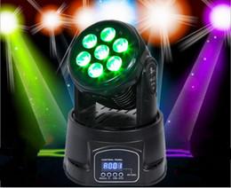 2018 contexto de rideau vidéo NJ-L12 Top 7PCS 10W LED Mini 4 en 1 tête mobile RGBW Stage Lighting Club DJ Coocheer