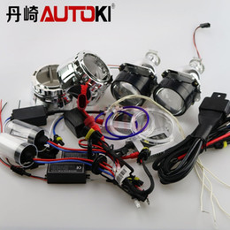 "Wholesale Hid Headlamp Ballast - Free Shipping 2.5"" H1 Mini Bi-xenon Projector Lens,CCFL Angel eye, HID Bulb HID Ballast Wire Harness for H4 H7 Headlamp"