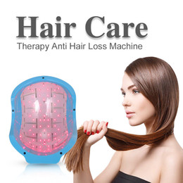 Wholesale laser hair therapy - Laser Hair Loss Regrowth Growth Head Massage SPA Infrared Treatment Cap Helmet Therapy Alopecia 80 Diodes Beauty Instrument