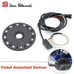 Wholesale E Bike Motor Conversion - High Quality Electric Bike Pedal Assist Sensor 12 Magnets Connect Motor Assemble Crank PAS E-Bike Speed Gear Conversion Kit Part