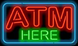 """Wholesale Commercial Dispenser - 2016 ATM Here Neon Sign Cash Dispenser Sign Custom Handcrafted Real Glass Tuble Neon Advertisement Display Sign 17""""x14"""""""