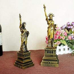 Wholesale Liberty Homes - 25cm 30cm height Metal Craft USA New York Famous Landmark Statue of Liberty Model