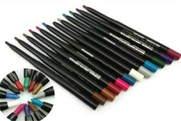 Wholesale Pencil Eyeliner Styles - 12 color Brand M eyeliner lip liner eyeliner pencils new eyeliners styles Auto rotate Multifunction liner
