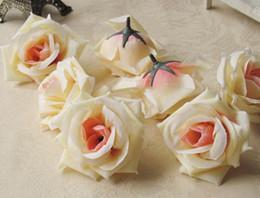 Tête artificielle fleurs artificielles en Ligne-Soie tête de fleur grande rose fleurs fleurs artificielles boule tête broche décoration de mariage fleur 8.5cm de diamètre