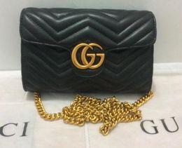 Wholesale Popular Bags - Hot style High Quality Women Leather cc handbag Famous Brand Designer Chian Crosbody Bags for Women Single Shoulder Bag totes bag popular gg