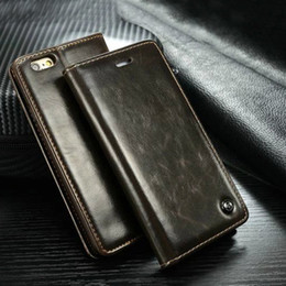 Wholesale Leather Case Iphone I5 - For iPhone 7 Leather Case Iphone 6 6s Plus Cover i5 5s Retro Cases Flip Stand Wallet Leather Beautifully Packaged Wholesale