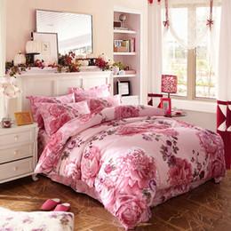 Bettwäschesatz 4pcs 100% Baumwolle Steppdeckenbezug Queen / King Size Bettwäsche Home Textille Promotion von Fabrikanten