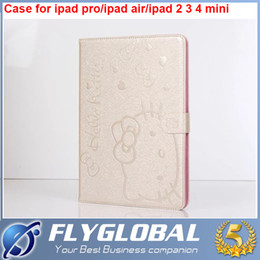 Wholesale Ipad Air Smart Cover Colors - For ipad pro 9.7inch for iPad Air 234 for ipad mini 4 3 2 1 Hello Kitty PU Leather Smart Cover Stand Case Many Colors Fold Sleep Wake Up
