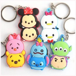 Wholesale Minnie Toy Lover - Hot ! 5 Style Lilo & Stitch Mickey Minnie Mouse PVC Animals Action figure Keychain Pendants Toy 5-6CM