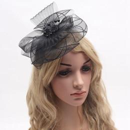 Wholesale Vintage Feather Headpieces - Bridal Headwears Birdcage Headpiece Head Sinamay Fascinator Formal Hat Fascinators New Bridal Wedding Hats For Brides Vintage Sweet