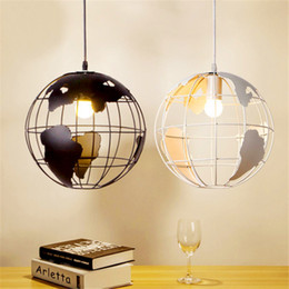 Wholesale Black Save - Creative Arts Cafe Bar restaurant bedroom hallway lamp Scandinavian modern minimalist single-head pendant light with Earth
