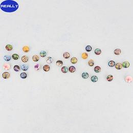 Argentina REALMENTE BRICOLAJE Hallazgos de La Joyería Nueva Llegada Árbol de la Vida Cabochon Glass Piedra Botones a presión para Noosa Pulsera Collar Anillo Envío Gratis Suministro