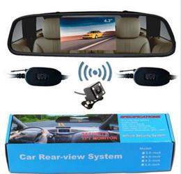 "Wholesale Car Rearview Mirror Wireless Camera - 2.4GHz Wireless Car Rearview System 4.3"" TFT LCD Mirror Monitor IR Backup Camera"