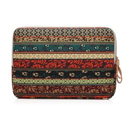 """Wholesale Notebook Pc Bags - Bohemian Design 11 12 13 14 15.6 inch Cavas Laptop Bag Notebook PC Sleeve Case Pouch for woman for hp macbook sony 11.6"""" 13.3"""""""