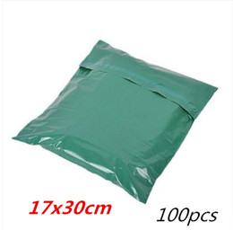 Wholesale Mailing Bag Envelope - 100pcs 17*30cm green Poly Mailer Plastic Shipping Mailing Bag Envelopes Polybags Strong Plastic Seal Postage Bags Free Shipping