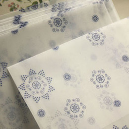 Wholesale Double Sided Stationery Tape - Wholesale-10 pcs lot romantic Snowflower envelope postcards greeting card cover parchment paper envelopes stationery school supplies