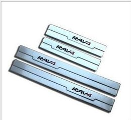 Wholesale Toyota Rav4 Scuff Plates - high quality 2013 2014 Toyota RAV4 RAV 4 stainless steel door sill scuff plate threshold 4pcs AP-054