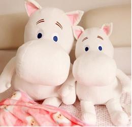 Wholesale Hippo Stuff - 25cm Free shipping Genuine Moomin Hippo Plush Toy Stuffed Doll little fertilizer valentine Park Spring bom