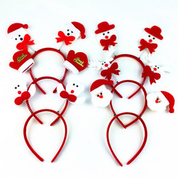 Wholesale F Foot - 2017 NEW Adult children Christmas headband head buckle foreign trade Christmas decoration supplies performance props free shipping