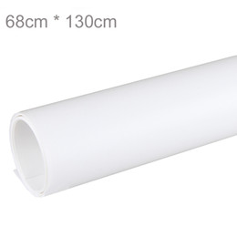Wholesale Backdrop Pvc - White 68 x 130cm PVC Material Backgrounds Backdrop Anti-wrinkle for Photo Studio Photography Background Equipment