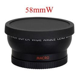 Wholesale Wide Lens 58mm - Free Shipping 58mm 0.45X Wide Angle Lens for Canon EOS 1000D 1100D 500D Rebel T1i T2i T3i